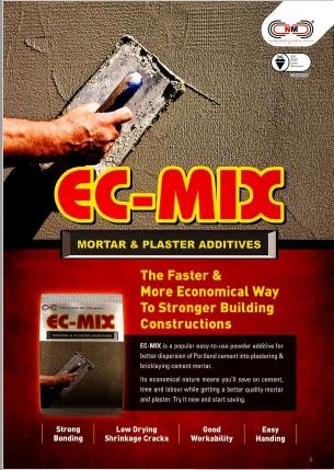 EC-MIX™ MORTAR & PLASTER ADDITIVES